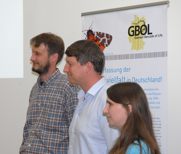 """So stolz können """"Gewinner sein! Björn Rulik, Dr. Matthias Geiger und Laura von der Mark (v.l.n.r)"""