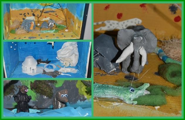 Collage MuseobilBOX-Dioramen