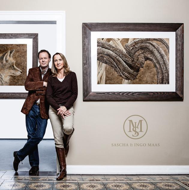 Sascha und Ingo Maas (v. r. n. l.) kombinieren Malerei, Struktur und Zeichnung in ihren Wildlife Portraits