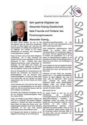 AKG NEWS Titelseite