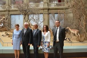 Frau Büdenbender, der Bundespräsident, der Oberbürgermeisster der Stadt Bonn, Frau Fendel Sridharan und Prof. Misof vlnr