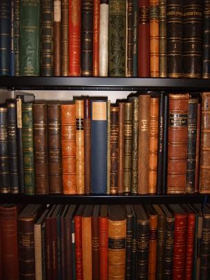 Buchrücken alter Werke